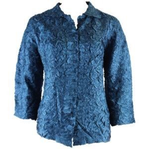 MAGIC SCARF CO. Travel Friendly Crinkle blouse OS